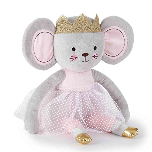 Levtex Baby - Elise Stuffed Toy - Mouse - Pink, Grey and White - Nursery Accessories -