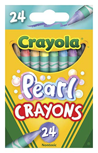 Crayola Pearl Crayons, Pearlescent Colors, 24Count