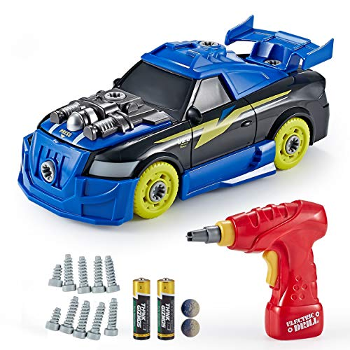 Think Gizmos Take Apart Toys Range - Build Your Own Toy Kit for Boys and Girls Aged 3 4 5 6 7 8 (Roadster Car)
