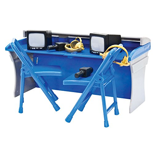 Blue and Gray Commentator Table Playset for WWE Wrestling Action Figures