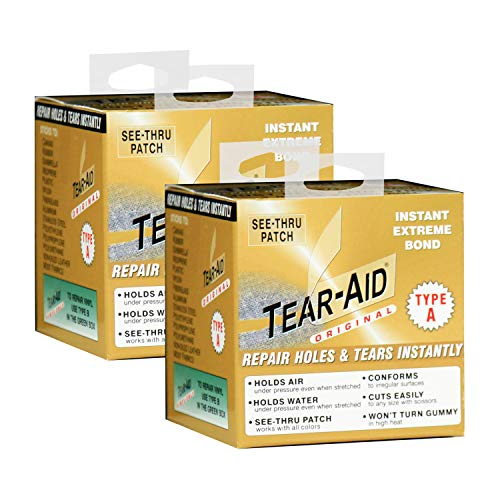 TEAR-AID Fabric Repair Kit, 3 in x 5 ft Roll, Type A (2 Pack)
