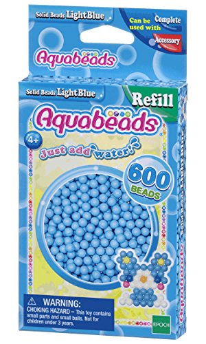 Aquabeads Solid Bead Refill Pack, Light Blue