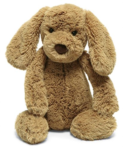 Jellycat Bashful Toffee Puppy Stuffed Animal, Medium, 12 inches