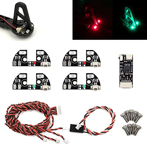Remote Controlled Navigation LED Light for F450 F330 F550 S500 S550 Quadcopter Hexacopter Frame Drone RC (Red and Green)