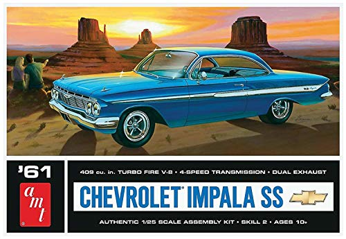 AMT AMT1013 1:25 Scale 1961 Chevrolet Impala SS Model Kit