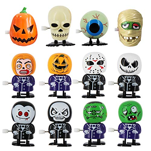 heytech 12 Packs Wind-up Toys for Halloween Assorted Clockwork Toys Supply for Party Favors for Boys,Girls,Kids