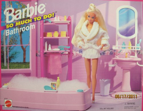 Barbie So Much To Do Bathroom Playset (1995 Arcotoys, Mattel)