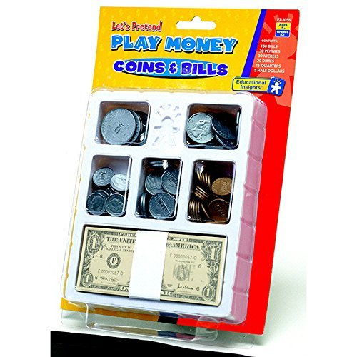 EDUCATIONAL INSIGHTS LETS PRETEND PLAY MONEY COINS & (Set of 3)