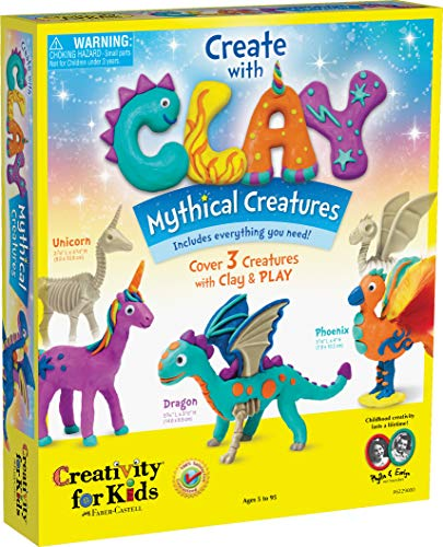 Creativity for Kids Create with Clay Mythical Creatures – Sensory Arts & Crafts for Kids