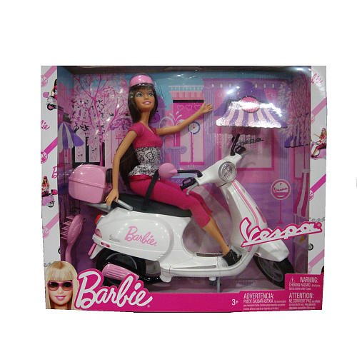 Barbie Vespa Doll & Vehicle w Barbie Doll & Scooter (2008)