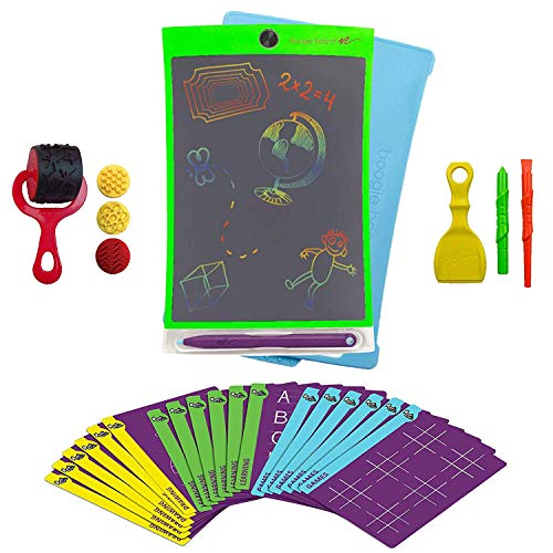Boogie Board Deluxe Magic Sketch - Color LCD Writing Tablet + 4 Different Stylus and 18 Stencils for Drawing, Writing Tracing eWriter Ages 3+