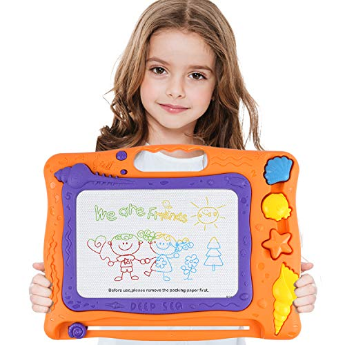 Supkiir Magnetic Drawing Board, Colorful Painting Learning Toy for Kids, Portable Doodle Board Writing Sketch Pad