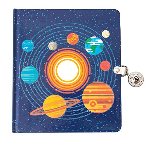 Playhouse Solar System Glow in The Dark Lock & Key Lined Page Diary for Kids