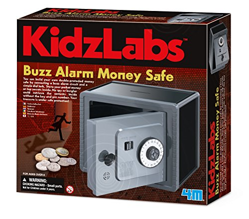 4M Buzz Alarm Money Safe Kit, Multicolor
