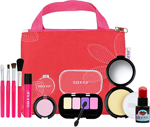 Click N' Play Pretend Play Cosmetic & Makeup Signature Essential Bag Set