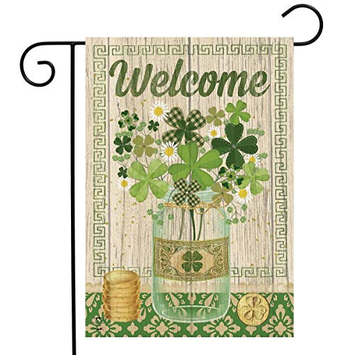 Briarwood Lane Lucky Clovers St. Patrick's Day Garden Flag Shamrocks Primitive 12.5