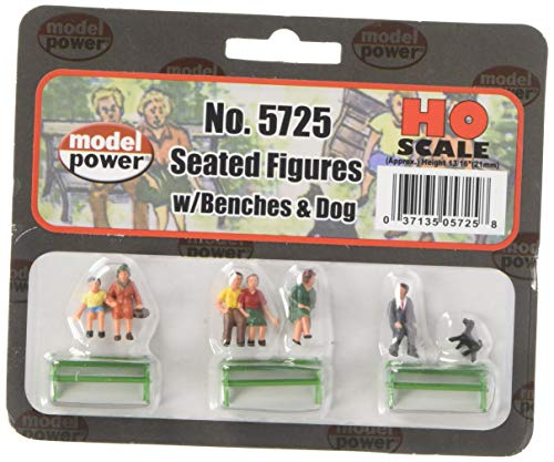 Model Power 5725 Sitting Figures w/Bench (6) HO