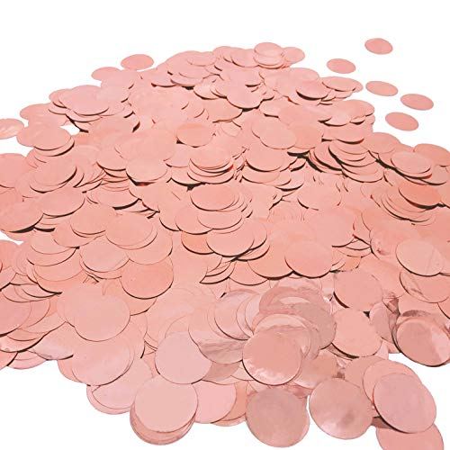 Rose Gold Party Glitter Foil Metallic Round Table Confetti Decorations Mylar Table Scatter Confetti Bachelorette Party Wedding Bridal Shower Engagement Baby Shower Birthday Party Favors Decorations