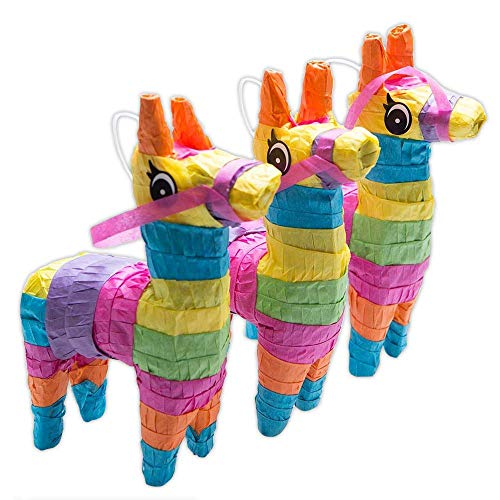 Rhode Island Novelty 4 x 7 Inch Mini Donkey Pinatas, Ordered in Sets of 3