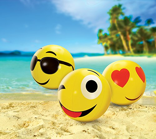 Kovot Large Emoji Beach Balls Set of 3 - Includes (3) 24