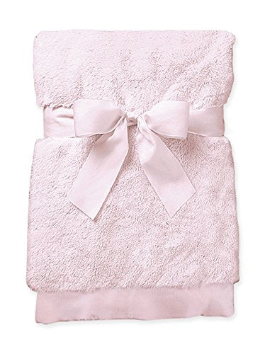 Bearington Baby Large Silky Soft Crib Blanket (Pink), 36
