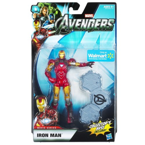 Marvel Legends Avengers Movie Exclusive 6 Inch Action Figure Iron Man Includes Collectors Base