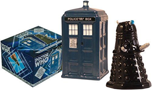 Doctor Who TARDIS vs Dalek Salt and Pepper Shaker - BBC Licensed