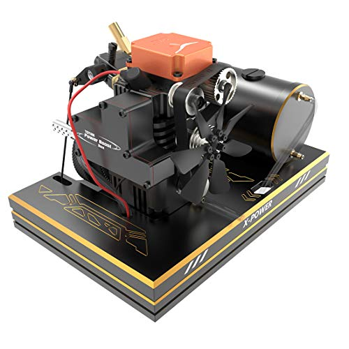Yamix 4 Stroke Methanol Engine RC Car Engine Toyan Engine DIY Engine Motor with Base Fuel Tank Throttle Push Rod Set for 1:10 1:12 1:14 RC Car Boat Airplane (FS-S100A)