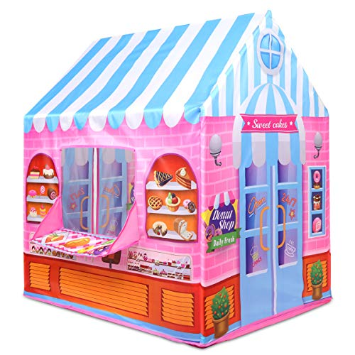 Anyshock Playhouse for Kids Tent,Candy Princess Castle Play House for 1-6 Year Old Children Boys Girls Baby Indoor Outdoor Gifts Toys (Pink)