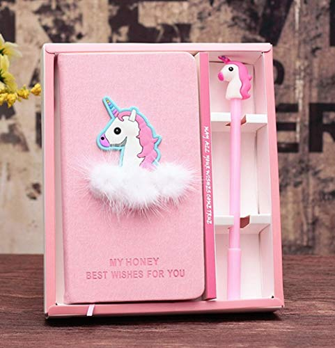 XXMANX Unicorn Diary Notebook Gift Set for Girls, Gifts for Girls of All Ages: 3 4 5 6 7 8 9 10 11 12 (Blue)