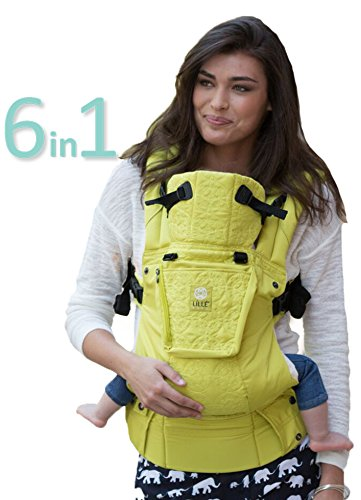 L蚅L蒪aby Complete Embossed Luxe SIX-Position 360� Ergonomic Baby & Child Carrier, Citrus
