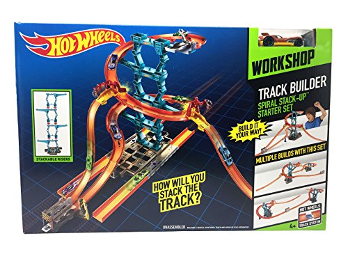 Hot Wheels Track Builder Spiral Stack Up Builds Up To 30 Inches High 1 Car Included
