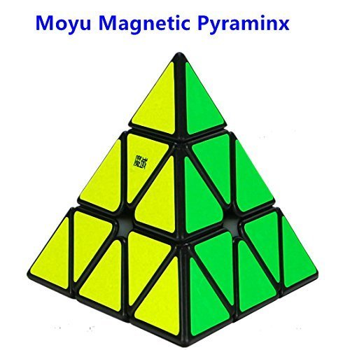 CuberSpeed MoYu Magnetic Pyraminx Black Magic Cube Magnetic Pyramid Black Speed Cube