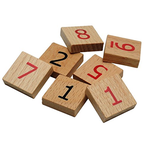 WE Games Replacement Wooden Sudoku Number Tiles - Extra Set of Pieces