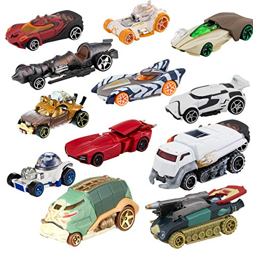 Hot Wheels (Set of 12 Die Cast Star Wars Toys Characters Cars Action Figure Toy