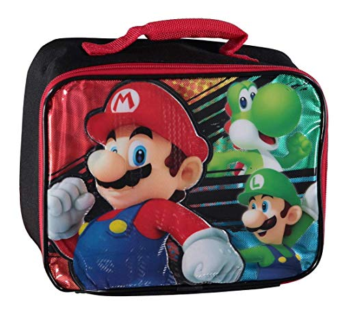 Nintendo Mario 3D Character Lunch Bag, Multicolor, One Size