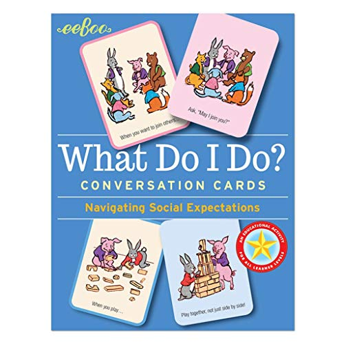 eeBoo What Do I Do Social Awareness Conversation Flash Cards