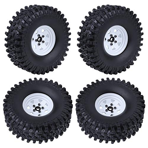 Hobbypark 1.9 Beadlock Wheels and Tires for 1/10 RC Crawler Car Traxxas TRX-4 Axial SCX10 Redcat Gen7 RC4WD D90 (Set of 4)