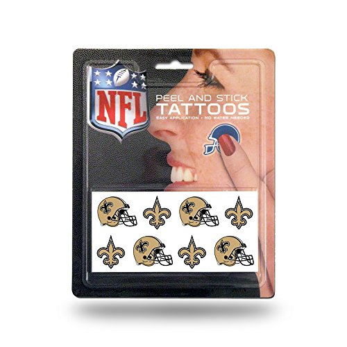 NFL Rico Industries Face Tattoos, 8-Piece Set, New Orleans Saints