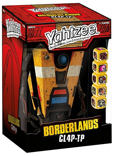 USAOPOLY Yahtzee: Borderlands CL4P-TP Game