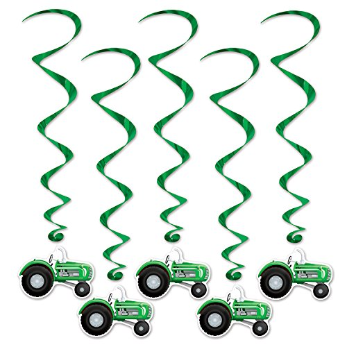 Beistle 57555 5-Pack Tractor Whirls, 3-Feet 4-Inch (3-Pack)