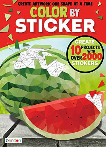 Bendon 44092 Food Advanced Color by Sticker Book, Multicolor