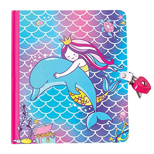 Playhouse Mermaid Love Shiny Foil Cover Lock & Key Lined Page Diary for Kids