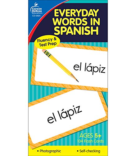Carson Dellosa | Everyday Words in Spanish Flash Cards | All Ages, 104ct