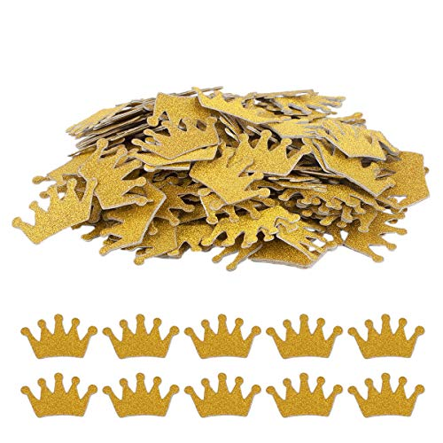 Haley Party Gold Crown Confetti Party Table Confetti Baby Shower Confetti for Baby Shower Boy Girl Princess Party Favor D�cor and Table Decor (1.2 Inch, Double-sided, 200PCS)