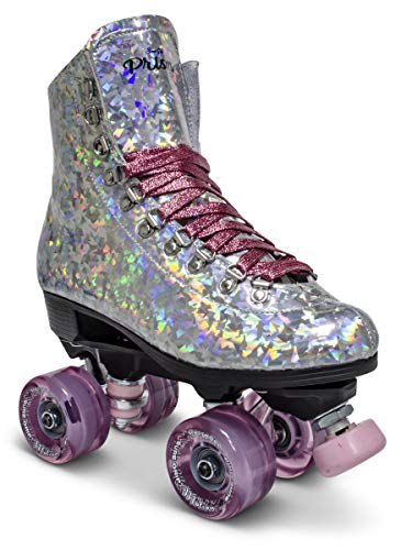 Sure-Grip Prism Roller Skates (Pink Confetti, Mens 5 / Womens 6-6.5)