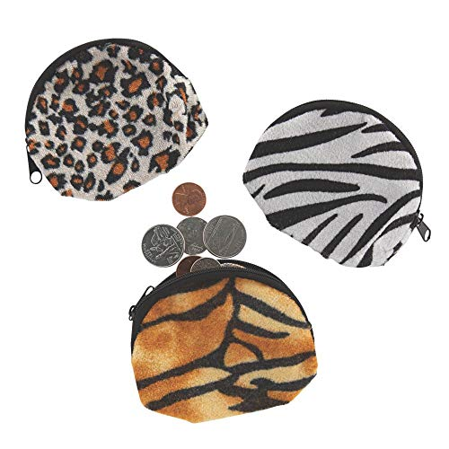 ANIMAL PRINT COIN PURSES - Apparel Accessories - 12 Pieces
