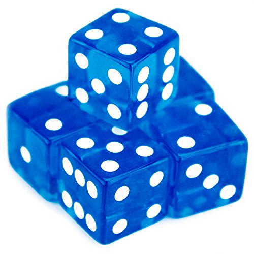 Brybelly 5 Count 19mm Dice (Blue)