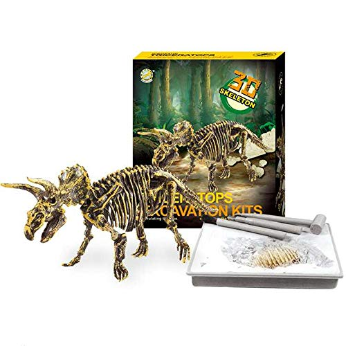 Dinosaur Skeleton 3D Dig a Dino Fossil Bones DIY Excavation Science Education Kit - Triceratops