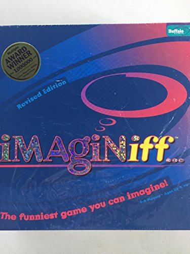 IMAGINiff Board Game 2006 REVISED EDITION!!! Over 100 of 183 Question Cards New and Updated! 3-8 Players. Ages 10 & up. by Buffalo Games